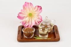 Lotosowa stamen herbata Zdjęcia Royalty Free