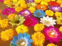 Lotosowa świeczka Zdjęcia Royalty Free