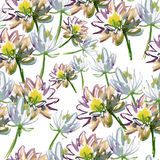 Lotosowego kwiatu wzór Fotografia Stock