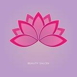 Lotosowego kwiatu emblemat Zdjęcie Royalty Free