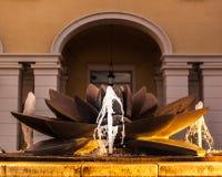 Lotosowego kwiatu fontanna Obraz Stock