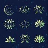 Lotosowego kwiatu ikony Obraz Stock