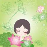 Lotosowego kwiatu tło Zdjęcie Royalty Free