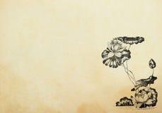 Lotosowi kwiaty w sztuki nouveau stylu Obrazy Royalty Free