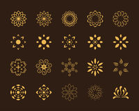 Lotosowi symbole Fotografia Stock