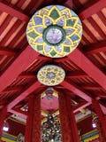 Lotosowy Drewniany sufit w świątyni Obrazy Royalty Free