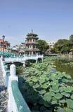 Lotosowy jezioro w Kaohsiung, Tajwan fotografia royalty free