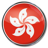 Lotosowy kwiat i Hong Kong Fotografia Royalty Free