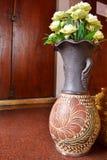 Lotosowy kwiat w wazie Zdjęcie Royalty Free