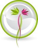 Lotosowy logo Zdjęcia Royalty Free