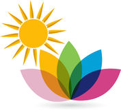 Lotosowy logo Fotografia Royalty Free