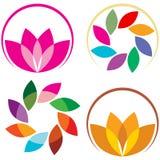 Lotosowy logo Obraz Royalty Free