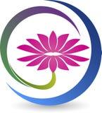 Lotosowy logo Obrazy Stock