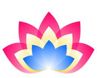 Lotosowy logo royalty ilustracja