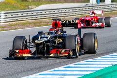Lotosowy Renault F1, Kimi Raikkonen, 2013 Zdjęcie Stock