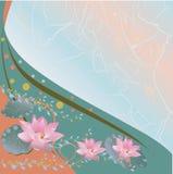 Lotosowy tło ilustracja wektor