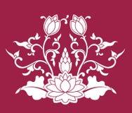 lotosu chiński wzór Fotografia Stock