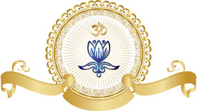 Lotosu joga mandala Zdjęcia Royalty Free
