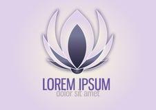 Lotosu logo Zdjęcia Royalty Free
