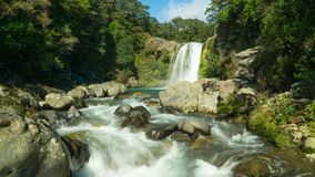 LOTR filming location, Tawhai falls in New Zealand stock images