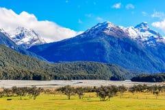 LOTR scene in Glenorchy, New Zealand Stock Photo