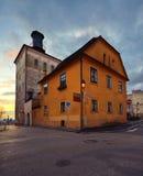 Lotrscak Kontrollturm in Zagreb Stockfotografie