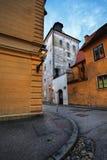 Lotrscak Kontrollturm in Zagreb Stockfotos