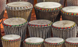 Lots of african drums Royalty Free Stock Photo