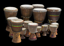 Lots of african drums Royalty Free Stock Images
