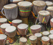 Lots of african drums Royalty Free Stock Photography