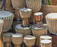 Lots of african drums Stock Photo