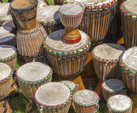 Lots of african drums Royalty Free Stock Image