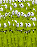Lots Of Aliens 2. An image of lots of cloned aliens. It would make a interesting background image Royalty Free Stock Images