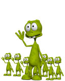 Lots Of Aliens 6. An image of lots of little waving cloned aliens Stock Photography