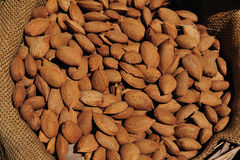 Lots of almonds Royalty Free Stock Photos