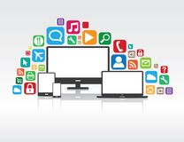 Lots of Apps Royalty Free Stock Photos