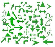 Lots of arrows. Lots of metallic style illustrations of arrows Stock Photos
