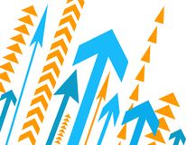 Lots of arrows. Illustration on white Stock Images