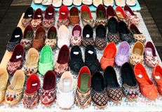 lots of asian shoes Stock Photo