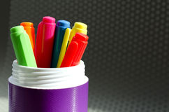 Lots of Assorted Colors Marker Pens Stock Image