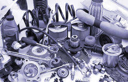 Lots of auto parts Stock Images