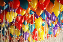 Lots of balloons Stock Images