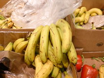 Lots of banana in market Royalty Free Stock Photography