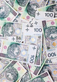 Lots of banknotes hundred polish zloty Stock Photography