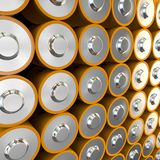 Lots of batteries Stock Photography