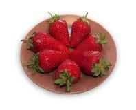 Lots of berries ripe strawberries Royalty Free Stock Photos