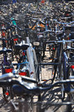 Lots of bicycles, Copenhagen Royalty Free Stock Images
