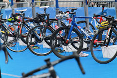 Lots of bicycles in the transition zone Stock Image