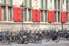 Lots of bike in Delft, Netherlands Stock Image