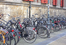 Lots of bike in Delft, Netherlands Royalty Free Stock Photo